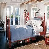 Americana kids bedroom. Red, white and blue-always a timeless classic.
