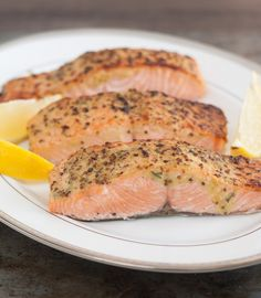 Broiled Salmon with Herb Mustard Glaze by Tracey's Culinary Adventures, via Flickr