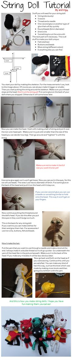 String Doll Tutorial by ~aislin94 on deviantART
