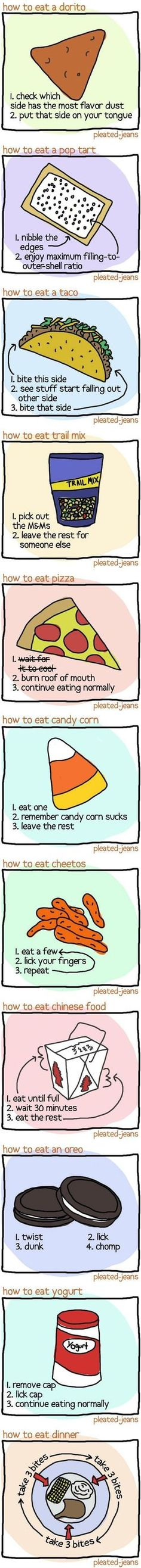 I agree with all except the candy corn which i find delicious and will continue to eat :)