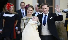 Sweden's royal family reunites for Prince Nicolas' christening