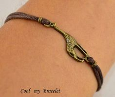 giraffe bracelet by Coolmybracelet on Etsy, ❤️Ellie The Gifted Giraffe Cute Gifts, Unique Gifts, Handmade Gifts, Giraffe Jewelry, Hippie Boho, Bling, Leather Bracelets, Jewels, Trending Outfits