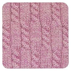 Shop Pink Yarn Cabled Knit Square Paper Coaster created by PsychedelicDoilies. Cable Knitting Patterns, Knitting Stiches, Knit Patterns, Stitch Patterns, Lace Knitting Stitches, Knitting Yarn, Knitting Squares, Vogue Knitting, Seed Stitch