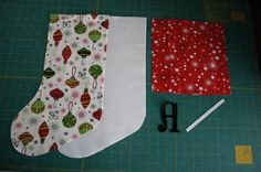 Another cuffed stocking tutorial - fully lined w/no raw seam edges construction.... like this!