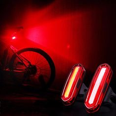 New 100 LM Rechargeable COB LED USB MTB Tail Light Taillight MTB Safety Warning Bicycle Rear Light Bicycle accessories #Affiliate