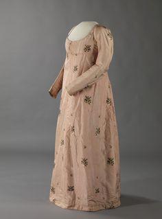 Silk dress, 1800-1810