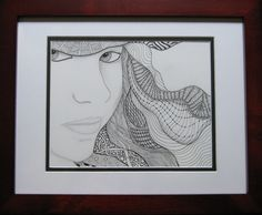 zentangle portraits | Pattern Play with Pens: Zentangled Graduation Portraits
