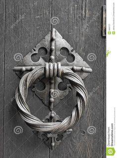 Close Up Of An Old Door Knocker Stock Image - Image: 9869721
