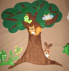 Erdő és lakói  ujjbábos   falvédő, Baba-mama-gyerek, Gyerekszoba, Falvédő, takaró, Meska