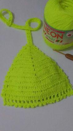 Como fazer um bojo para biquíni de crochê, confeccionado com o fio NEON da Cìrculo S/A