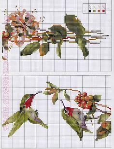 Вышивание крестиком, схемы птиц
