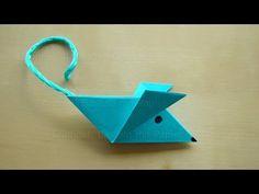 Origami Mouse Fold – Einfaches Basteln mit Papier – Origami for Kids / A … - DIY Papier & Origami Ideen Origami Mouse, Origami Yoda, Origami Star Box, Diy Origami, Origami Dragon, Useful Origami, Origami Design, Origami Stars, Origami Tutorial