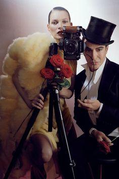 Kate Moss & John Galliano in 'Fantasia' by Tim Walker. Vogue UK, December 2013.