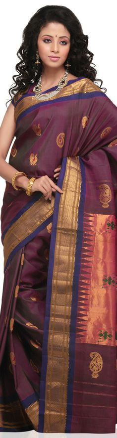 Pure handloom Paithani Silk Saree - original pin by @webjournal
