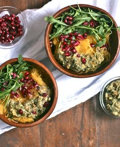 Spaghetti Squash bowl with Chestnut Sage Pesto