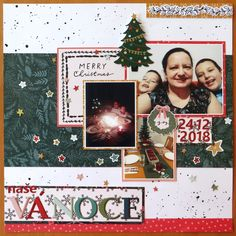 Created for a PA challenge to scrap the Christmas pictures. I was very eager to use the popular Merry Days collection for my page, but su. Happy Mail, Christmas Pictures, Scrapbook Pages, Photo Wall, Merry, Day, Frame, Collection, Picture Frame