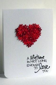 Beautiful handmade Valentines card.