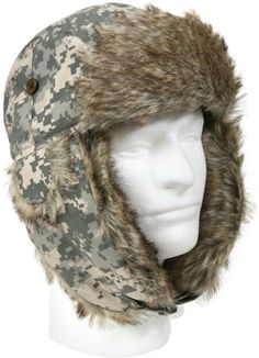2a81b1aadc0df ACU Digital Camouflage Bomber Aviator Fur Flyer s Trapper Hat