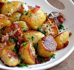 Receta de patatas con beicon