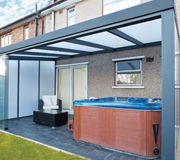 SunSpaces garden rooms make the perfect hot tub rooms for you to relax and unwind in. Add a hot tub room to your property today! Outdoor Rooms, Outdoor Living, Outdoor Decor, Hot Tub Room, Patio Enclosures, Backyard Pergola, Flat Roof, Images Photos, Pictures