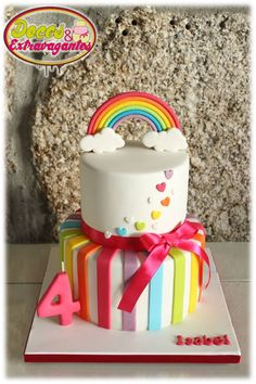 Its for a 4 year old? Nahhh it'll do for my 😀rainbow cake 🌈 Rainbow Parties, Rainbow Birthday Party, Rainbow Party Decorations, Rainbow Theme, Rainbow Baby, 5th Birthday, Birthday Ideas, Bolo Rainbow Dash, Rainbow Cakes