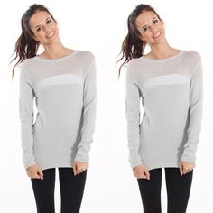Erica Sweater in Gray Lightweight long sleeve crew neck sweater. Essential for every day! Can be paired with anything. 54% rayon 46% nylon. Available in S/M and M/L. Please contact me for your own listing I would love to make you one! Available in oatmeal also Lewboutiquetwo Sweaters