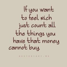 Money can't buy happiness.