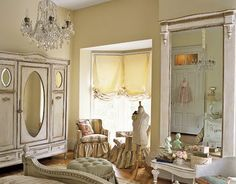 I would love a dress form for Eliza's room with a frilly tutu on it! But aside, this is such a pretty little princess room....