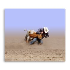 Gallery Direct Margo Harrison's 'Man Against Beast' Gallery Wrapped Canvas
