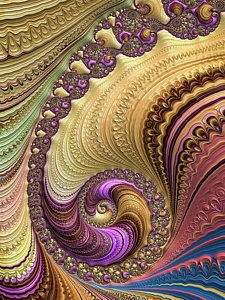 Digital Art - Luxe Colorful Fractal Spiral by Matthias Hauser