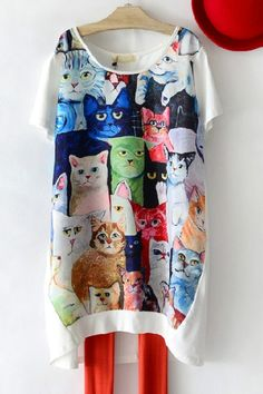 Cats High-low Shirt