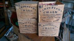 Vintage Carpenters Chalk in Dovetail Box - PICK UP ONLY by VintageRelics802 on Etsy