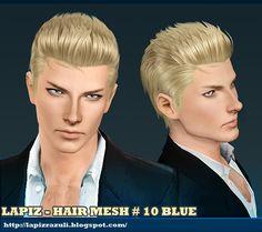 Lapiz's Scrapyard: [Sims3] Hair Mesh #10 - Blue