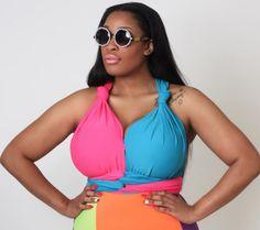 Women S Plus Size Pageant Dresses Beautiful Black Women, Big And Beautiful, Curvy Fashion, Fashion Beauty, Pageant Dresses, Halter Dresses, Stylish Plus, Swimsuits, Swimwear