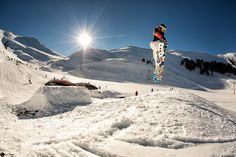 Snowboarding at the #Kalavrita ski resort, situated on the North West side of Helmos mountain, near #Patra