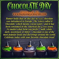 Treat yourself! Sip that mocha or nibble that fudge; chocolate officially contains zero calories today! 😉 // #InternationalChocolateDay #WorldChocolateDay #ChocolateDay #WitchesLoveChocolate #cocoa #fudge #candybar #mocha #delicious #kitchenwitch Chocolate Treats, Love Chocolate, International Chocolate Day, Eclectic Witch, Kitchen Witchery, Festival Celebration, Healthy Mind, Popular Recipes, Treat Yourself