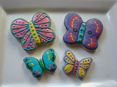 Sparkly butterfly cookies by Kiwi's Kookies