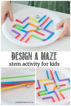 your kids to build the best marble maze in this open-ended paper plate maze STEM challenge! Kids will have a blast! Challenge your kids to build the best marble maze in this open-ended paper plate maze STEM challenge! Kids will have a blast! Steam Activities, Kids Learning Activities, Fun Learning, Preschool Activities, End Of Year Activities, Summer School Activities, Creative Activities For Kids, Activities For Students, Outside Kid Activities