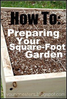 Suqare Foot Gardening: How to DIY raised garden beds
