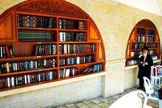 Bookshelf at the Western Wall