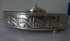 Vintage French Art Deco Appetizer Tray with Cut by Decofanatique, $65.00