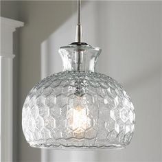 Sink (in clear) $287. Honeycomb Glass Pendant