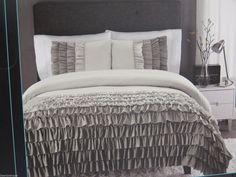 New Cynthia Rowley Twin Xl Comforter Set Ruffles Teal