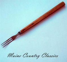 Antique Primitive Long Wooden Handle 3 Tine Prong Cooking Fork Civil War Era | eBay