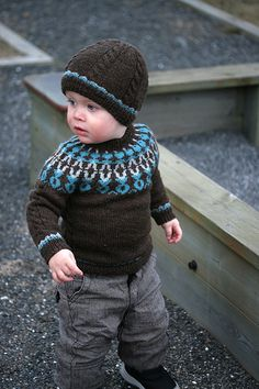 I made this sweater for my son when he was 18mo and I really loved it. The provided sizes are 1 - 2 - 4y but it's easily adjusted to larger and smaller sizes. Feel free to contact me for further information on how to do that if you are in trouble.