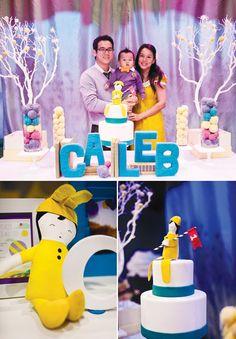 Modern Dr. Seuss First Birthday party @hwtm