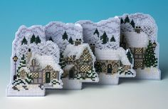 A most impressive 3D cross stitch card by the masters of festive greetings, The Nutmeg Company, this kit is the perfect way to wish a wonderful white ...