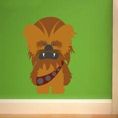 Stickers pour enfants: Chewbacca. Vinyle décoratif Star Wars. #starwars #vinyle #mur #Chewbacca #decoration #deco #WebStickersMuraux