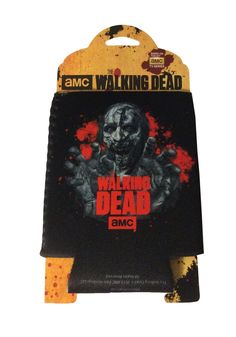 AMC The Walking Logo Zombie Black Can Holder Koozie New Licensed