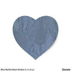 Blue Marble Heart Sticker